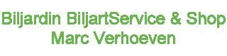 Biljardin BiljartService Marc Verhoeven